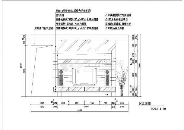某地大型豪华别墅结构装修设计图纸-图二