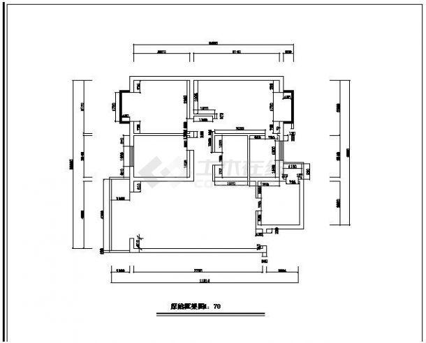 某小区经典室内装修设计CAD参考图-图一