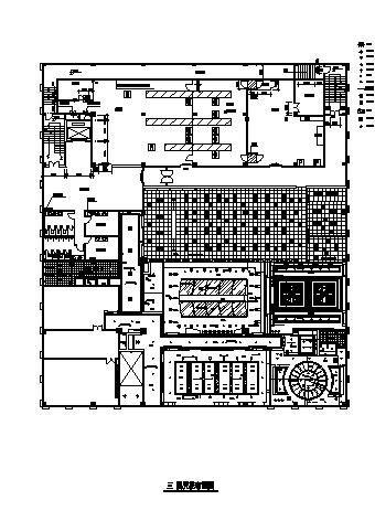 青岛市某豪宅别墅装修方案CAD布置图-图一