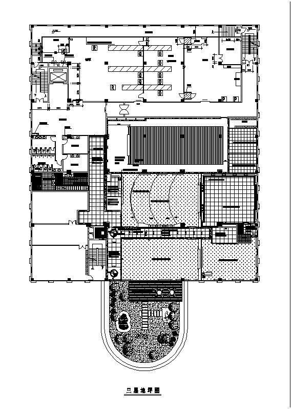青岛市某豪宅别墅装修方案CAD布置图-图二
