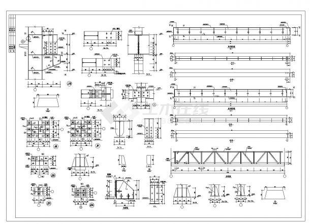 某新建厂房轻钢结构施工图CAD规划详图-图一