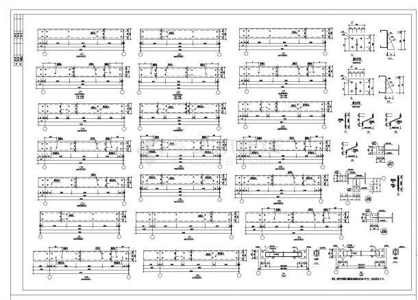 某新建厂房轻钢结构施工图CAD规划详图-图二