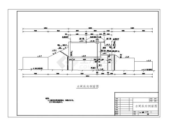 水闸拆除重建全套施工图(09年)-图一