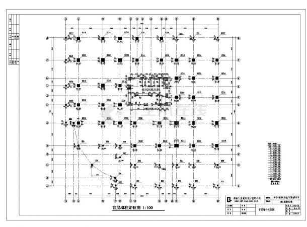 某城市滨江花园结构施工图CAD规划详图-图一