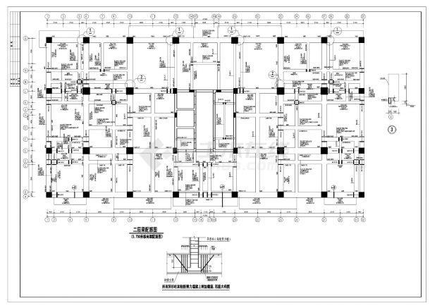 某市新楼房框架剪力墙经典结施布置CAD参考详图-图一