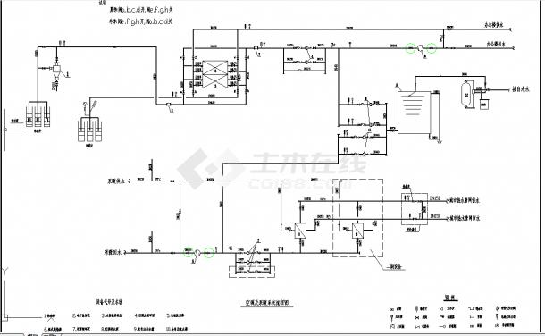 某地单层某科技园区水源热泵工程cad平面设计施工图纸-图一