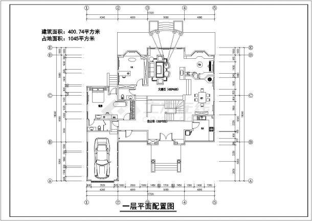 某市多层独栋别墅装饰结构设计图纸-图一