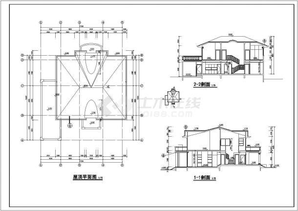 某市多层独栋别墅装饰结构设计图纸-图二