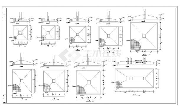 某城市综合楼结构设计CAD参考详图-图一