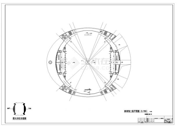 [张家界]某体育场建筑全套施工图-图二