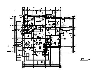某二层砖混结构坡屋顶农村别墅建筑施工cad图_别墅施工-图一