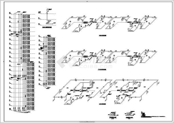 [青海]超高層綜合建筑群全套采暖通風系統施工圖(建筑形式多 鍋爐房熱力系統)-圖一