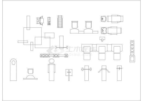 某综合装修设计cad素材图库-图一
