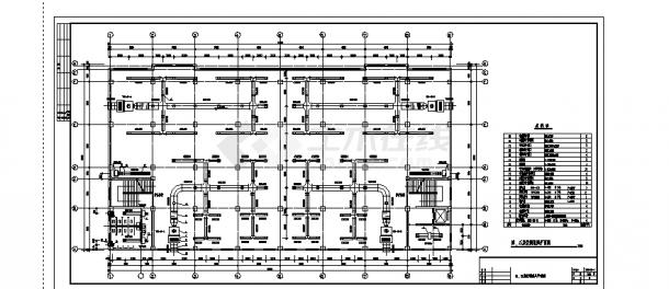 2套中型商场中心建筑中央空调工程系统设计施工cad图纸-图二