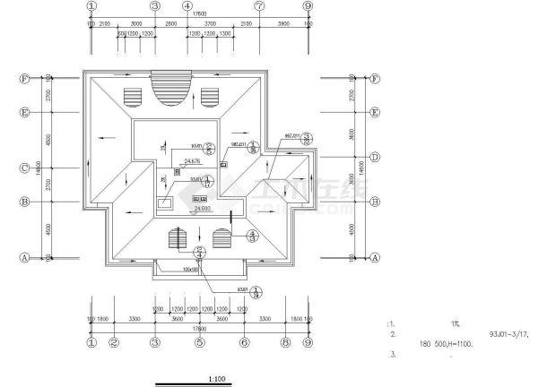 衢州市某小区六层砖混住宅楼建筑设计CAD图纸-图一