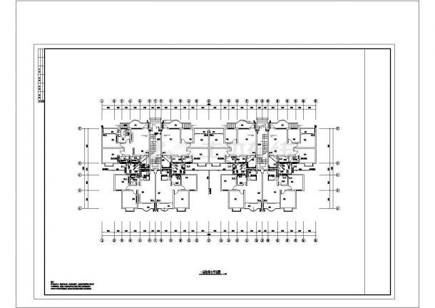 某小区全套建筑给排水CAD图纸-图一