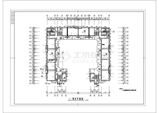 某中学全套建筑结构CAD施工图纸-图二