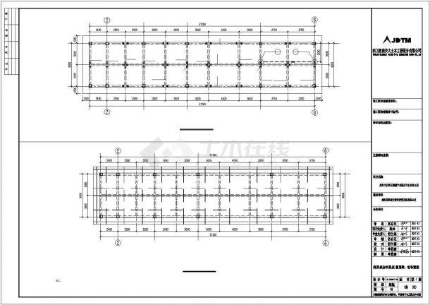 某污水處理工程結構設計方案CAD圖紙-圖一