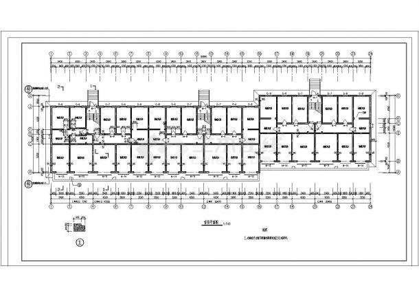 某市大型小区多层住宅楼建筑施工图纸-图一