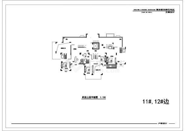 某地多户住宅楼户型结构设计图纸-图一