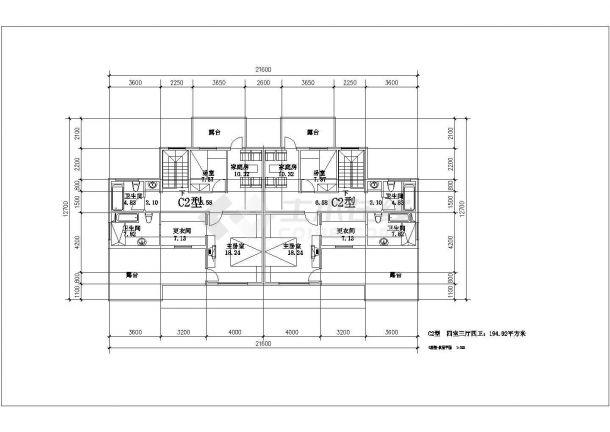 高档住宅小区建筑施工全套CAD图-图一