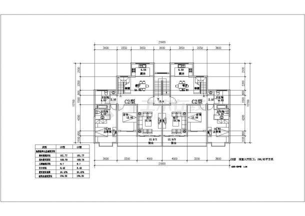 高档住宅小区建筑施工全套CAD图-图二