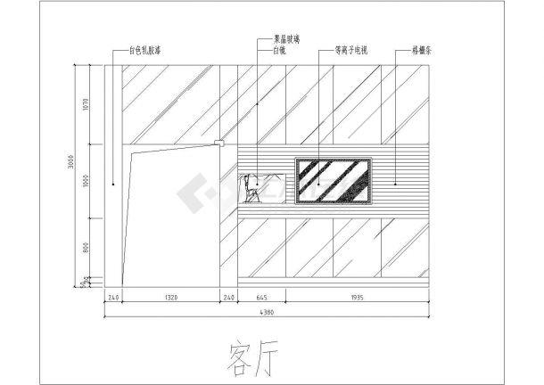 某地复式特殊户型结构设计图纸-图二