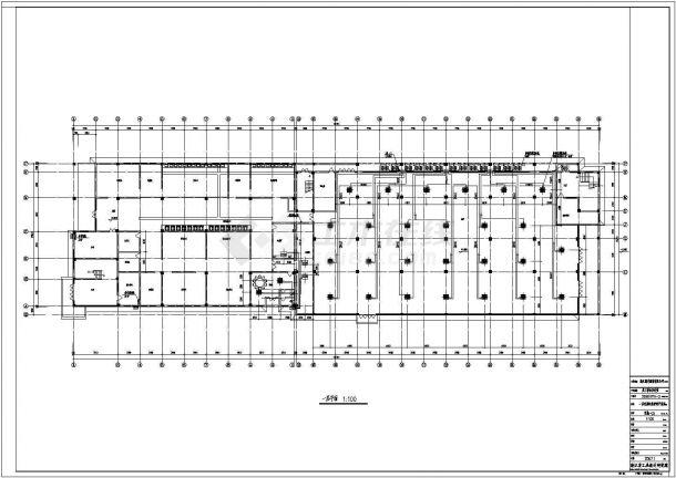 宁波市某服饰多联机系统cad平面设计施工图-图一