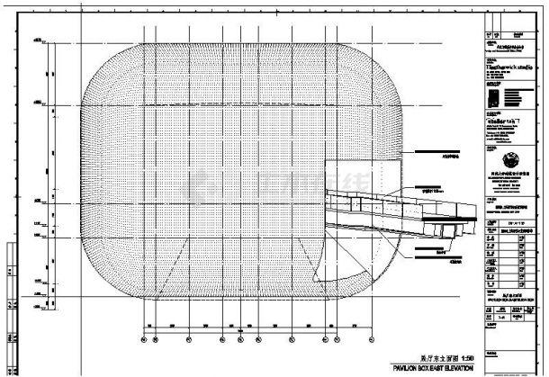 同济-英国馆建筑设计施工图-图一