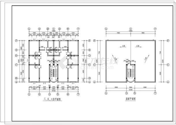 某国企宿舍楼建筑设计图纸-图一