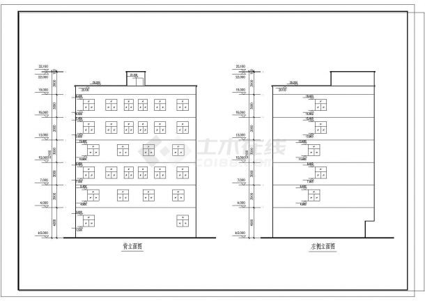 某国企宿舍楼建筑设计图纸-图二