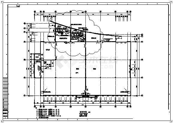 -1+2层3206平米体育馆建筑全套设计施工图-图一