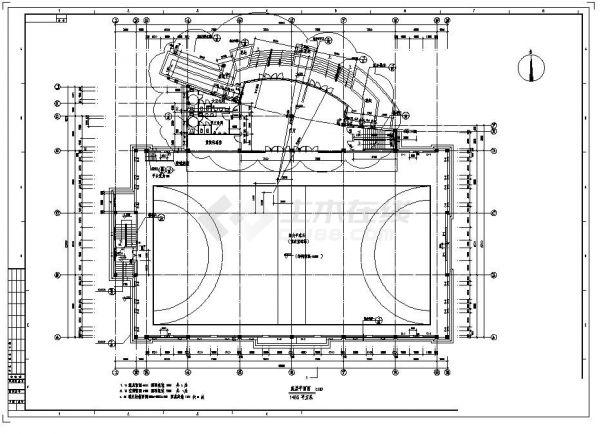 -1+2层3206平米体育馆建筑全套设计施工图-图二