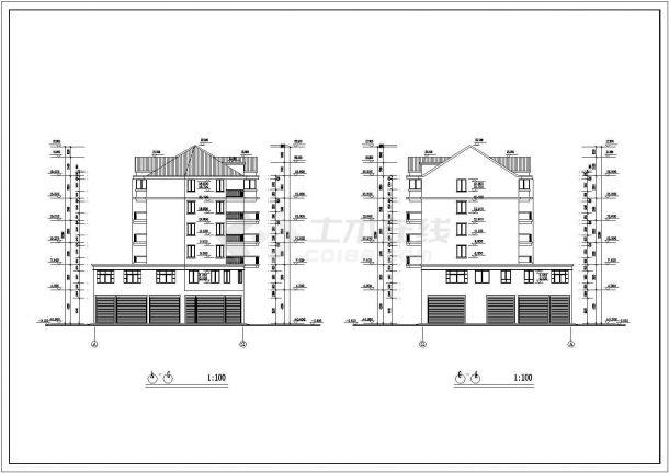 某火焰小区商住楼建筑工程施工图纸-图二