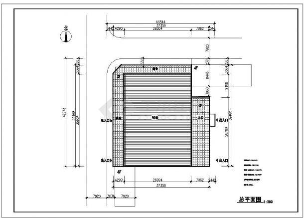 2层5800平米体育馆建筑方案全套设计施工图-图一