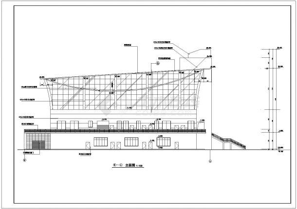 2层5200平米体艺馆建筑全套设计施工图-图一