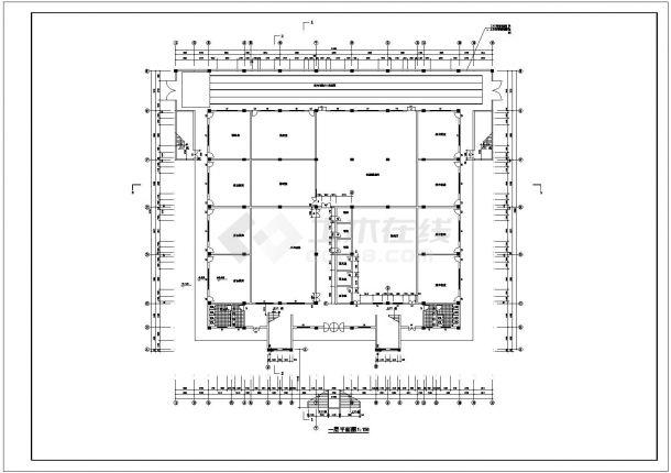 2层5200平米体艺馆建筑全套设计施工图-图二