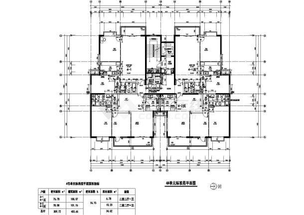 某北京市大型户型结构设计图纸-图一
