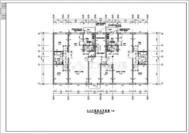 某北方单元住宅楼户型结构设计图纸-图一