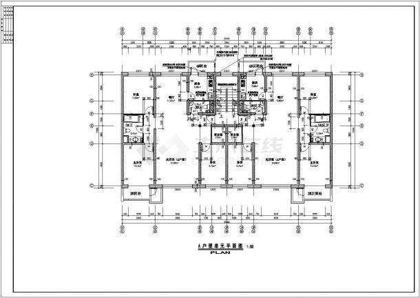 某北方单元住宅楼户型结构设计图纸-图二