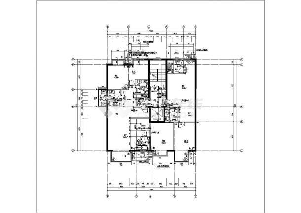 某北京市楼盘户型结构设计图纸-图一