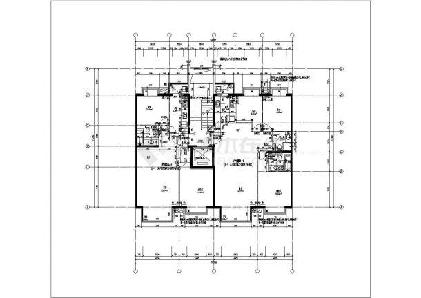 某北京市楼盘户型结构设计图纸-图二