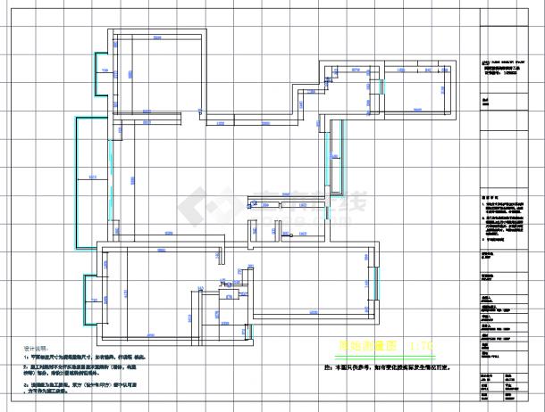 某地单层现代三室两厅设计施工图纸含实景-图一