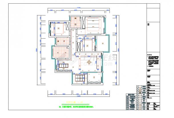 某地单层现代四居室设计施工图纸含实景-图二