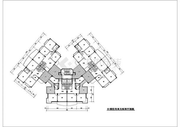 某地904.5平方米住宅户型结构设计图纸-图二