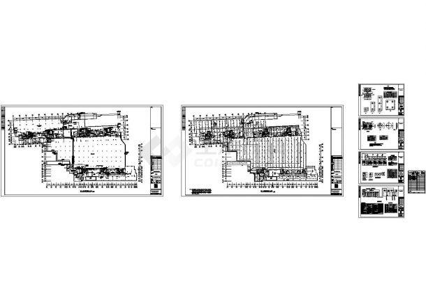 长沙某现代高级住宅小区电气设计cad全套施工图(含设计说明)-图一