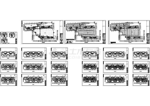 长沙某现代高级住宅小区电气设计cad全套施工图(含设计说明)-图二