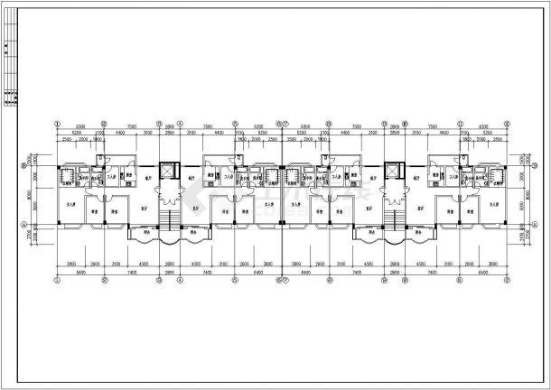 某小区多套住宅房建筑设计图纸-图二