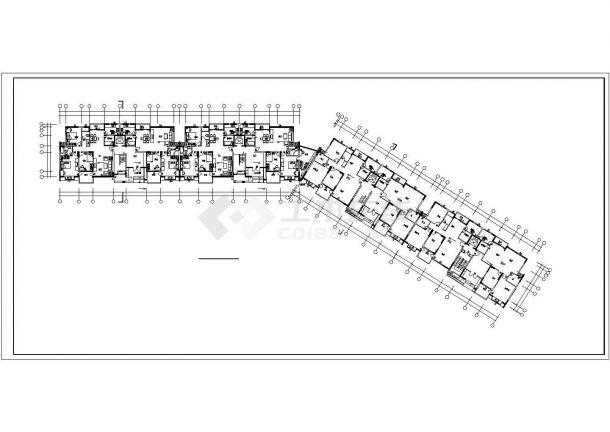 某地经典化高层住宅楼建筑施工图纸-图二