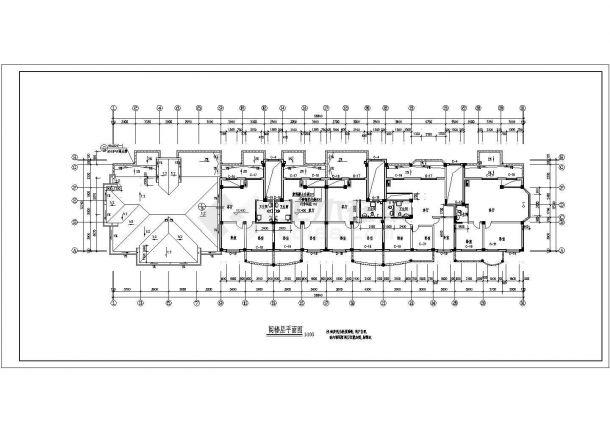 某地多层完美住宅楼建筑施工图纸-图一
